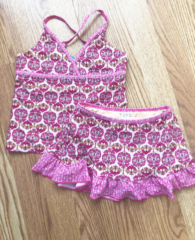 CL-Boho Beach Skirted Tankini