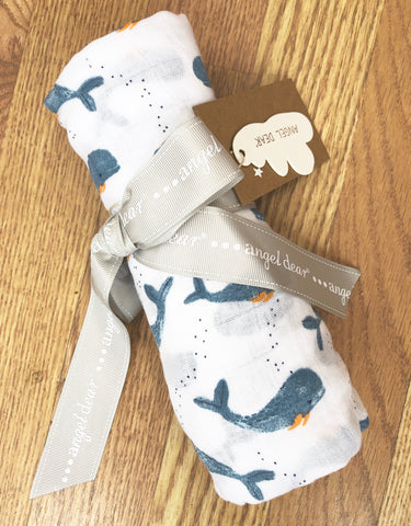 AD-Whale Swaddle blanket