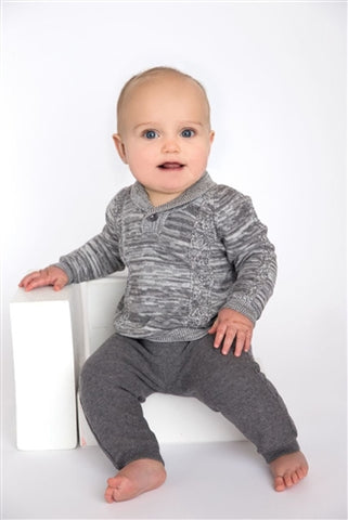 Gray 2 Piece Sweater Set