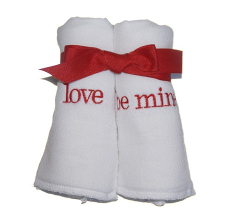 Valentine Burp Cloths-Set of 2