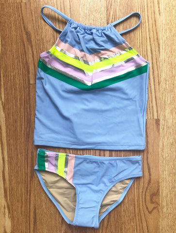 SC-Rainbow Tankini for Girls