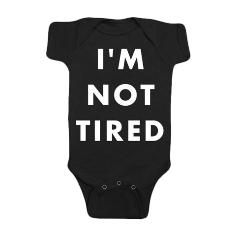I'm not tired Onesie-Black