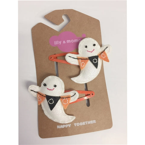 Boo Ghost Hair Clips