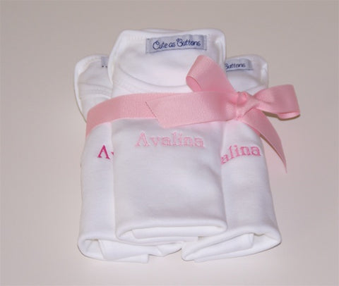 Set of 3 Bodysuits with name