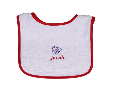Personalized Rocket Bib