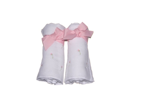 Rosebud Diaper Burp Set