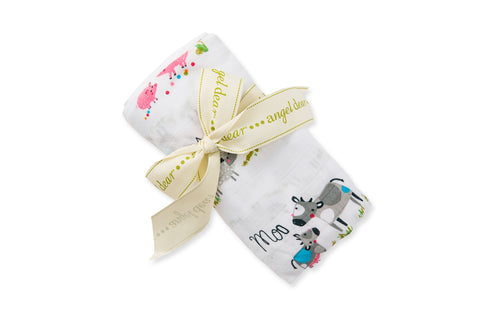 Angel Dear Farm Friends Swaddle Blanket