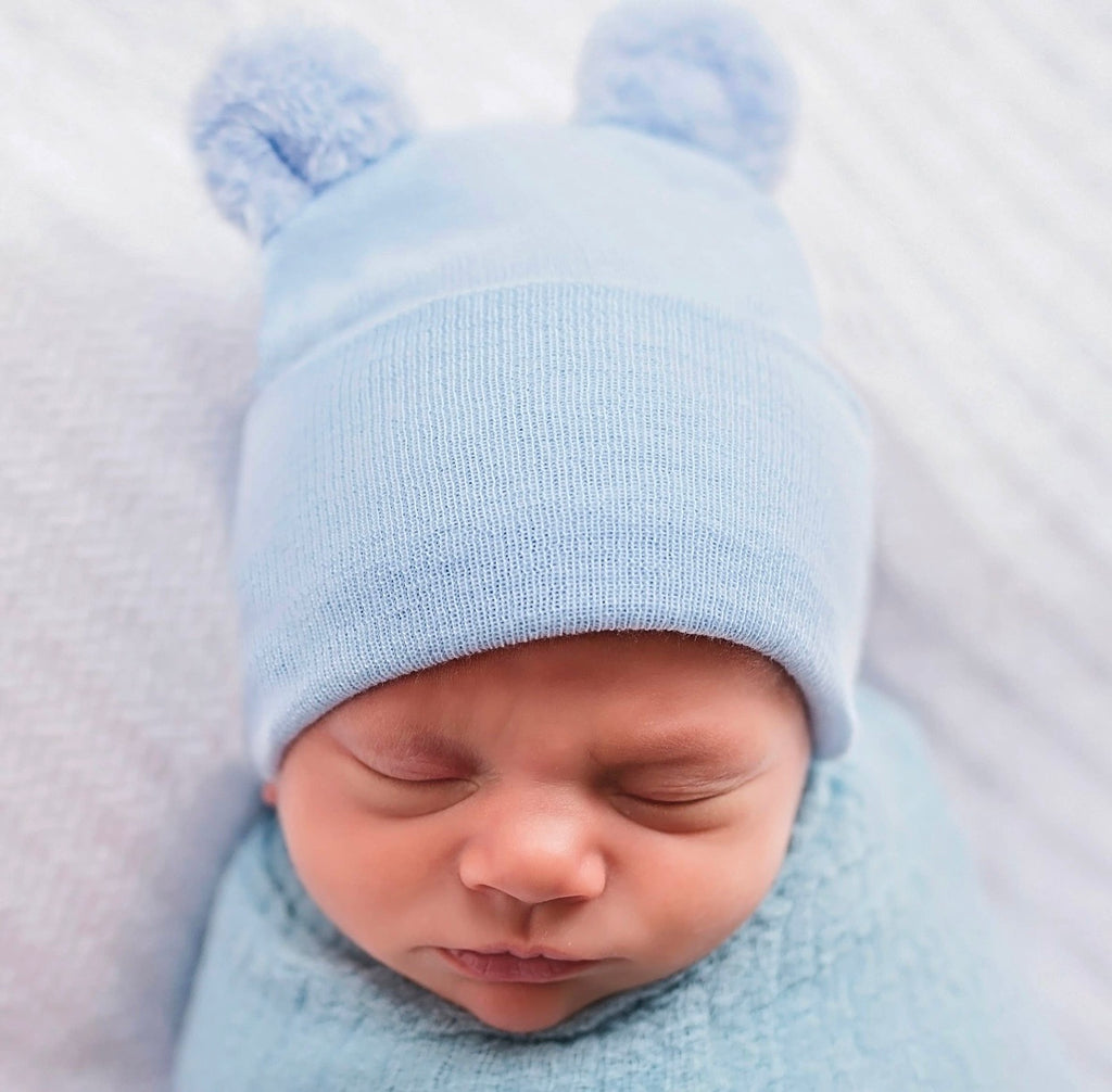 newborn hospital hat, newborn beanie, fuzzy bear ears, baby boy, hospital hat, baby gift, photo prop