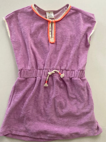 Lavender Terry Cover up for Girls