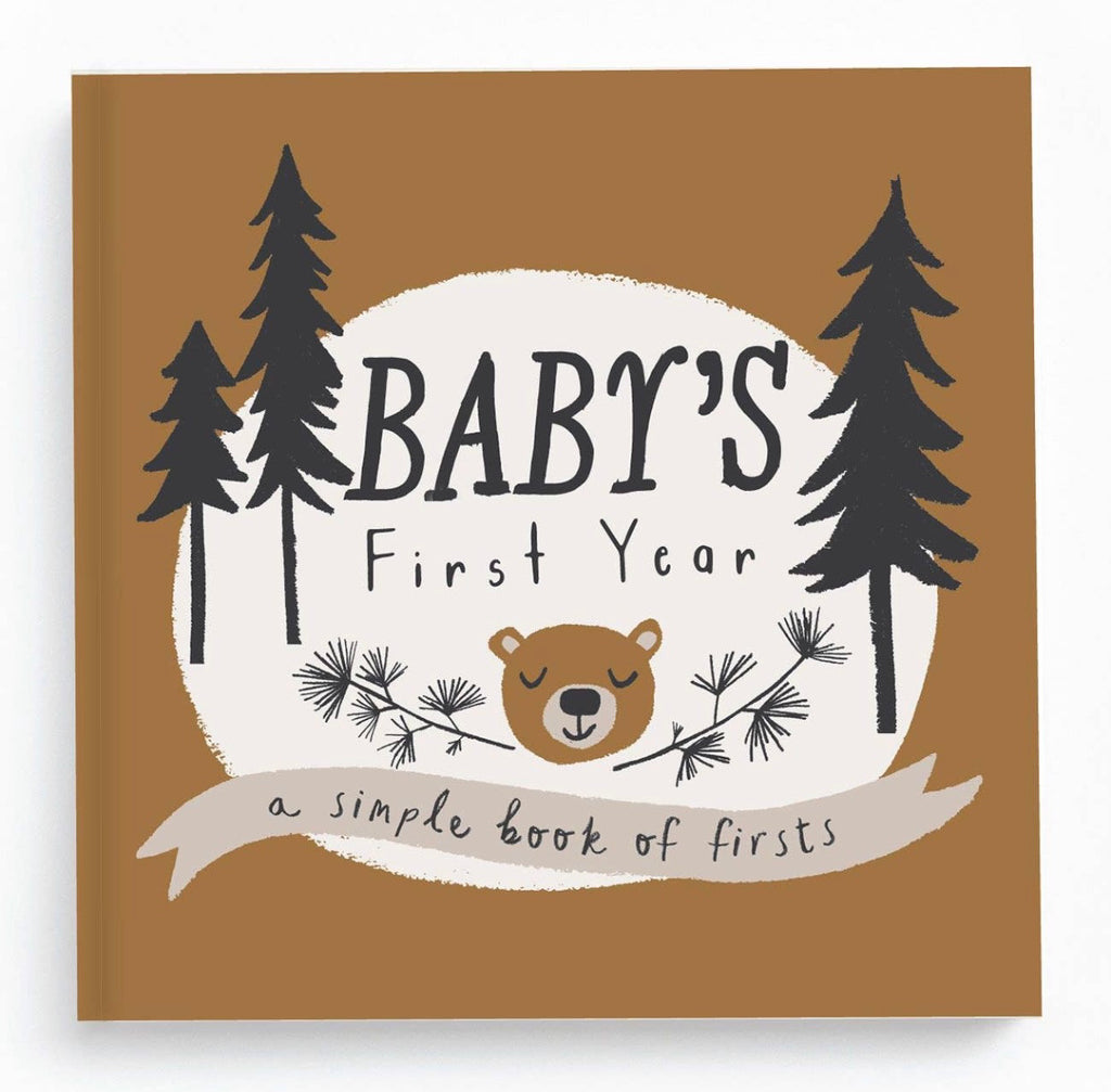 little camper book of firsts, memory book, camp theme baby gift, baby gift, lucy darling, book of firsts