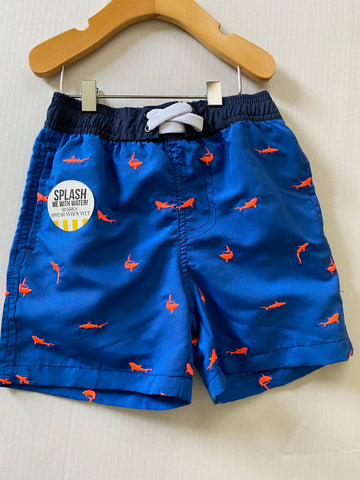 SC- Blue with shark swim trunks