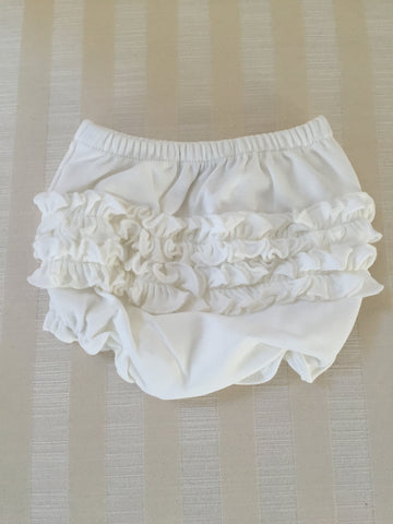 Solid Creme Ruffle Bloomers for Girls