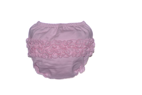 Solid Pink Ruffle Bloomers for Girls