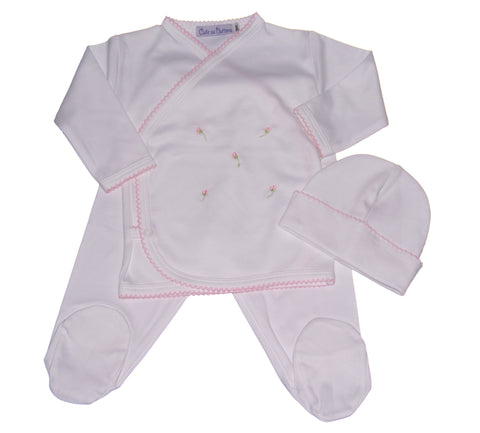Rosebud Take Me Home Layette 3 piece Set