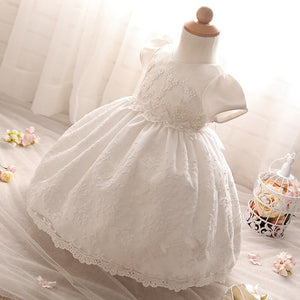 7240cfb42de9 Baby Girl s White Lace Tutu Christening Gown – Trendy Tots Outlet