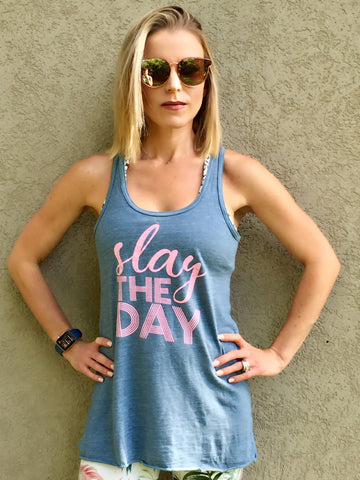Slay the Day Racer Back Tank