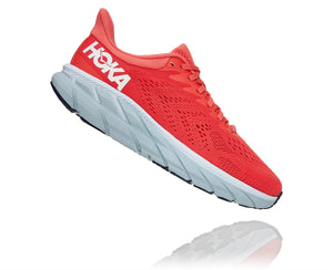 Hoka W CLIFTON 7 Hot Coral / White
