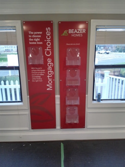 Mortgage Choice Display, Pvc/Acrylic w/ Applied Graphics