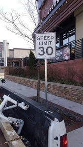 Speed Limit Aluminum Sign w/post