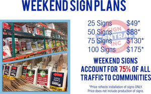 Weekend Sign Plan