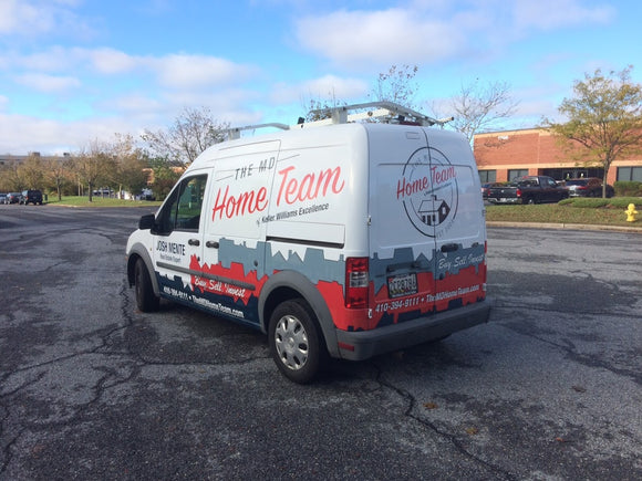 Partial Vehicle Wrap for MD Home Team