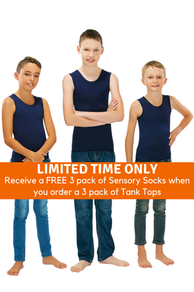 3 Pack Of CalmWear Therapy Vests | Boys - SAVE OVER $30 - PLUS 3 FREE SOCKS