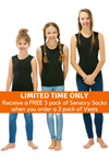 3 Pack Of CalmWear Sensory Vests | Girls - SAVE OVER $30 - PLUS 3 FREE SOCKS