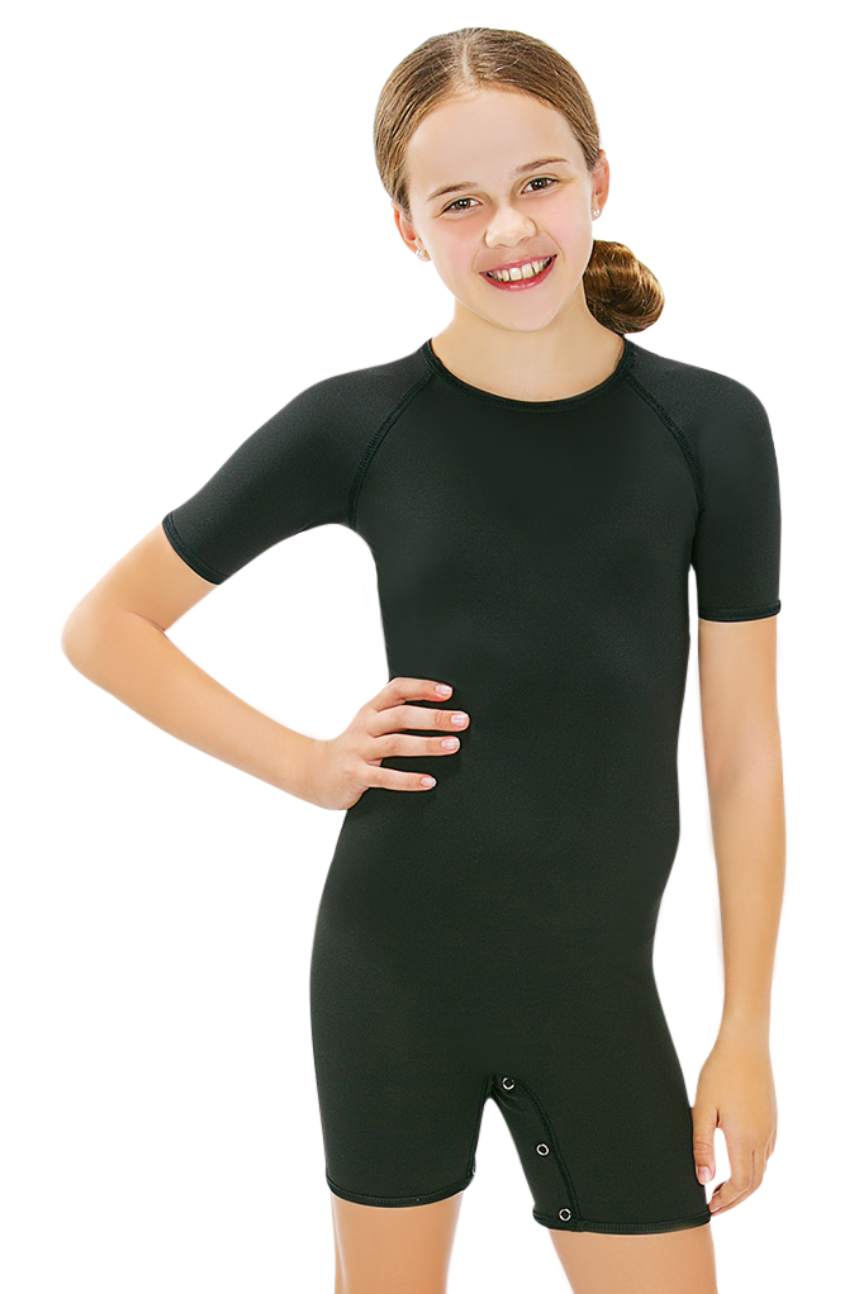 CalmWear Therapy Bodysuit - Short Sleeve | Girls