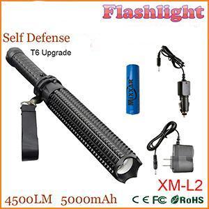 Amazing Rechargeable Flashlight And Self Defense Baton