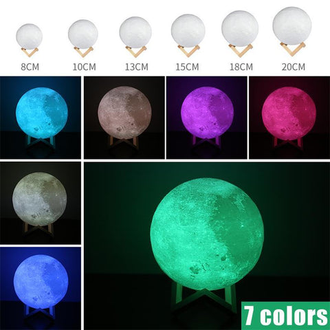Kitchen Accessory - Imagine Having The Moon In Your Own Home. Your Friends And Family Will Gaze In Awe At This Gorgeous Display. This Popular Moon Lamp Changes Colors And Uses A Touch Sensor And Soft LED Lights, Either 2, 3 Or 7 Colors.