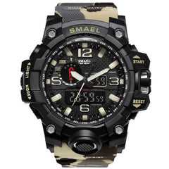 Good Quality and Affordable Men's Military Style LED Quartz Watch. Shock and Water Resistant Up to 50 M. Choose from Several Colors. Allow 2-3 Weeks for Arrival.