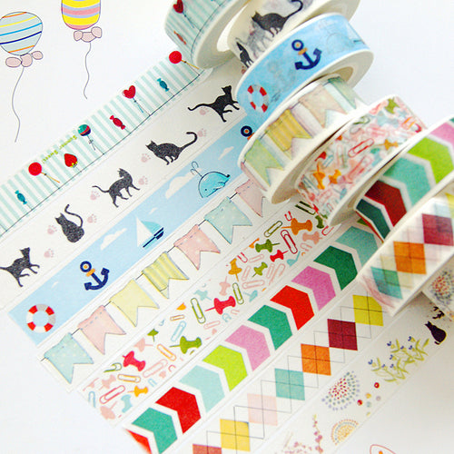 Washi Tape Multi-couleurs