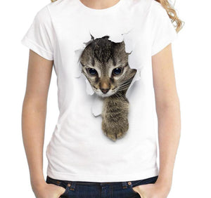 T-shirt chaton illusion d'optique