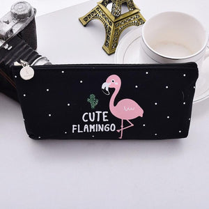 black Flamingo Pencil Pouch - Stationery - Selling Social