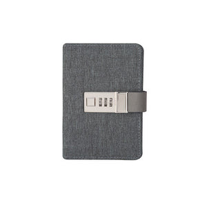 grey Mini Lockable Leather Journal - Stationery - Selling Social