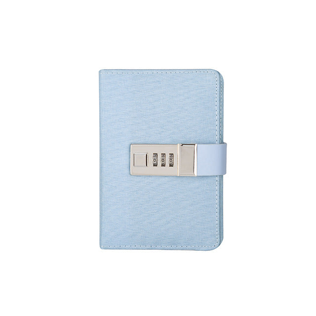 Blue Mini Lockable Leather Journal - Stationery - Selling Social