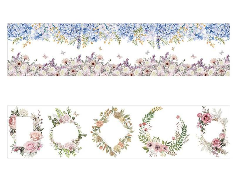 Floral Wreaths and Patterns-  Large Washi Tape - Stationery - Selling Social