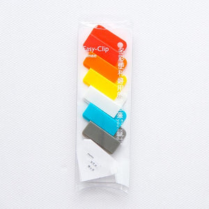 Box of Colorful Removable Plastic Divider Clips - Rainbow - Accessory - Stationery - Selling Social