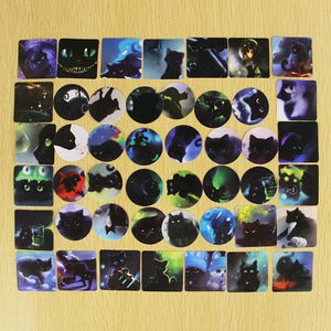 92 Black Cat Stickers - Stationery - Selling Social