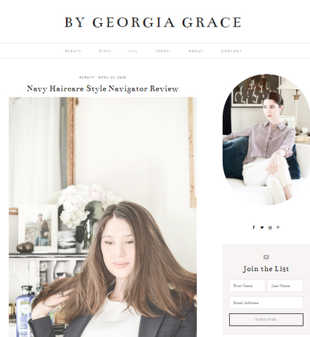 By Georgia Grace, Navy Hair Care reviews