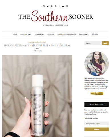 The Southern Sooner, Navy Hair Care reviews, hair care, product review