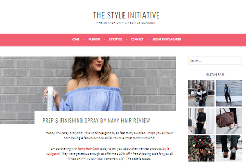 The Style Initiative, Navy Hair Care reviews, hair care, product review