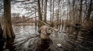 Flooded woods attract ducks, and savvy mallard enthusiasts follow