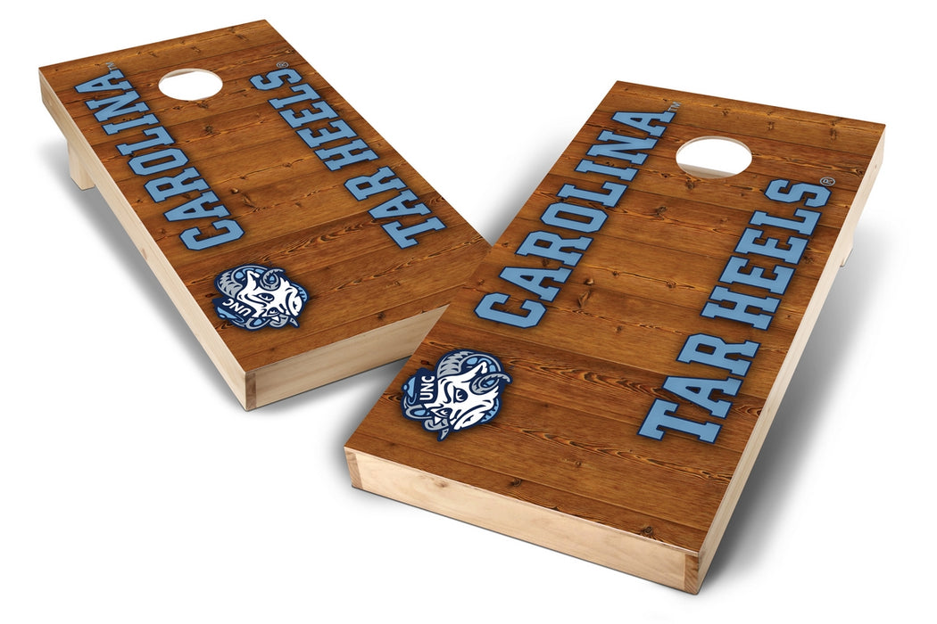 North Carolina Tar Heels 2x4 Cornhole Board Set - Vertical