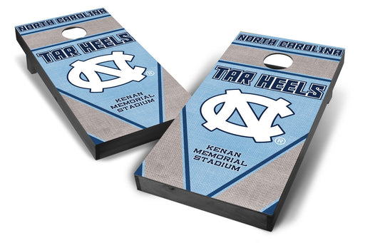 North Carolina Tar Heels 2x4 Cornhole Board Set Onyx Stained - Burlap