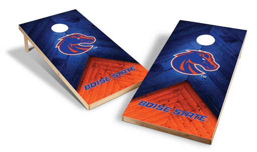 Boise State Broncos 2x4 Cornhole Board Set - Weathered