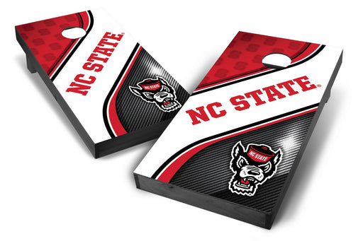 NC State Wolfpack 2x4 Cornhole Board Set Onyx Stained - Swirl