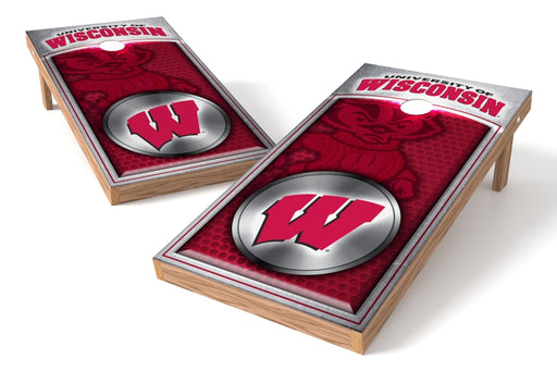 Wisconsin Badgers 2x4 Cornhole Board Set - Medallion