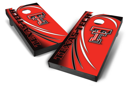 Texas Tech Red Raiders 2x4 Cornhole Board Set Onyx Stained - Spiral
