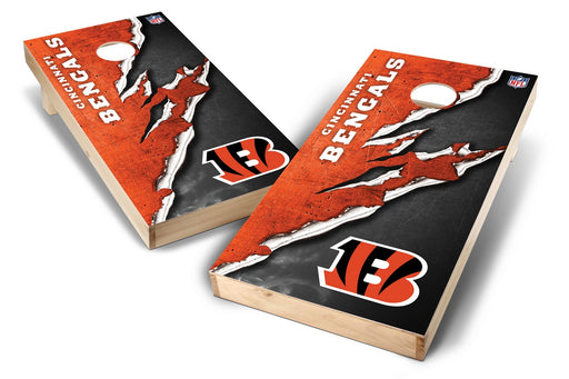 Cincinnati Bengals 2x4 Cornhole Board Set - Ripped